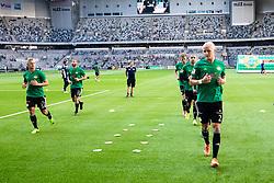 July 23, 2018 - Stockholm, SVERIGE - 180723 Dalkurds spelare värmer upp innan fotbollsmatchen i Allsvenskan mellan Hammarby och Dalkurd den 23 Juli 2018 i Stockholm. (Credit Image: © Kenta JöNsson/Bildbyran via ZUMA Press)