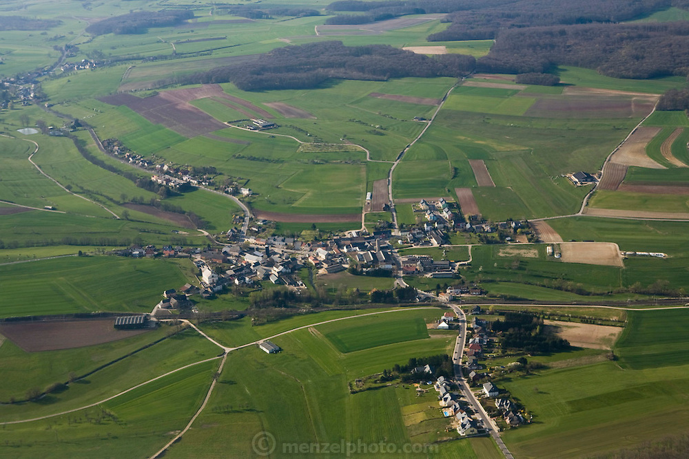 Luxembourg town and country aerial on approach to the airport in Luxembourg. The image is part of a collection of images and documentation for Hungry Planet 2, a continuation of work done after publication of the book project Hungry Planet: What the World Eats.