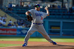 June 10, 2017 - Los Angeles, California, U.S. - Former Los Angeles Dodger Fernando Valenzuela throws to the plate during the Old Timers game prior to a Major League baseball game between the Cincinnati Reds and the Los Angeles Dodgers at Dodger Stadium on Saturday, June 10, 2017 in Los Angeles. (Photo by Keith Birmingham, Pasadena Star-News/SCNG) (Credit Image: © San Gabriel Valley Tribune via ZUMA Wire)