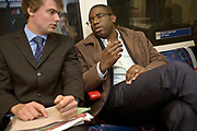 David Lammy, Member of Parliament for Tottenham and Minister for Skills, en route to an appointment with a youth group in South london