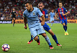 August 10, 2016 - Barcelona, Catalonia, Spain - Fabio Quagliarella and Aleix Vidal during the match corresponding to the Joan Gamper Trophy, played at the Camp Nou stadiium, on august 10, 2016. (Credit Image: © Joan Valls/NurPhoto via ZUMA Press)