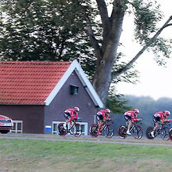 27-09-2016: Wielrennen: Olympia Tour: Hardenberg <br />HARDENBERG (NED) wielrennen<br />Nederlands oudste wielerkoers ging van start in Hardenberg met een ploegentijdrit. Lotto Soudal