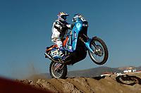 Motor<br /> Paris Dakar 2005<br /> Foto: Dppi/Digitalsport<br /> NORWAY ONLY<br /> <br /> STAGE 1 - BARCELONA<br /> 31/12/2004<br /> <br /> FRANCISCO GOMEZ PALLAS / KTM 660R - ACTION