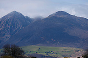 Carrauntoohill Ireland's highest mountain on left, in Kerry, ireland.<br /> PHOTO: Don MacMonagle<br /> macmonagle.com