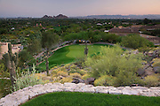 The tee for the 8th hole on the Desert Golf Course at the Phoenician Resort in Scottsdale, Arizona.