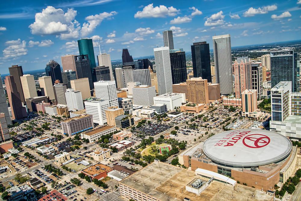 Downtown Houston & Toyota Center