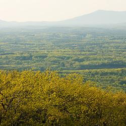 View of Mount Monadnock from Mount Wachusett in Mount Wachusett State Park.  Massachusetts.