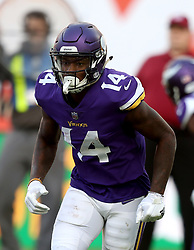 Minnesota Vikings' Stefon Diggs during the International Series NFL match at Twickenham, London. PRESS ASSOCIATION Photo. Picture date: Sunday October 29, 2017. See PA story GRIDIRON London. Photo credit should read: Simon Cooper/PA Wire. RESTRICTIONS: News and Editorial use only. Commercial/Non-Editorial use requires prior written permission from the NFL. Digital use subject to reasonable number restriction and no video simulation of game.