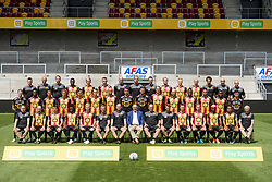July 23, 2018 - Mechelen, BELGIUM - (upper row L-R) physio Christophe Sintebin; doctor Hendrik Gevers; Mechelen's team doctor Robin Vanhoudt; Mechelen's William Togui; Gaetan Bosiers; 21 Mechelen's Clement Tainmont; Harmen Kuperus; video analyst Dieter Van Tornout; physiotherapist Glenn Vanryckerghem; Mechelen's Gustav Engvall; 29 Mechelen's Jules Van Cleemput; 07 Mechelen's Tim Matthys; Mechelen's physiotherapist Dieter Devaere; Mechelen's logistic Marc Bols; Mechelen's physiotherapist Bart De Bruyn; (middle row L-R) Arno Valkenaers; Trova Boni; Mechelen's Laurent Lemoine; 05 Mechelen's Arjan Swinkels; 34 Mechelen's Maxime De Bie; 30 Mechelen's Hannes Smolders; 15 Mechelen's Edin Cocalic; 01 Mechelen's goalkeeper Bram Castro; Mechelen's Michael Verrips; 04 Mechelen's Seth De Witte; 09 Mechelen's Nicklas Pedersen; 06 Mechelen's Mera German; Mechelen's Igor de Camargo; 40 Mechelen's Sylla Yacouba; Sofian Bouzian; (lower row L-R) Mechelen kit manager Johan Van Den Dries; 08 Mechelen's Frank Berrier; Mechelen's Milan Savic; Abou Ben Ouattara; 11 Mechelen's Nikola Storm; Mechelen's assistant coach Sven Swinnen; Mechelen's head coach Dennis van Wijk; Mechelen's chairman Johan Timmermans; Mechelen's assistant coach Frederik Fred Vanderbiest; Team manager MichaÃ«l Vijverman; 16 Mechelen's Rob Schoofs; 22 Mechelen's Alexander Corryn; Mechelen's Mamadou Bagayoko; Mechelen's Lucas Bijker; Carlos Lanckriet pose for a team picture, at the 2018-2019 season photo shoot of Belgian second division soccer team KV Mechelen, Monday 23 July 2018 in Mechelen...BELGA PHOTO JASPER JACOBS (Credit Image: © Jasper Jacobs/Belga via ZUMA Press)