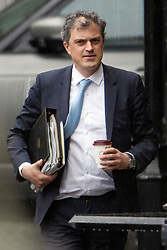 © Licensed to London News Pictures. 08/05/2019. London, UK. Chief Whip JULIAN SMITH is seen at the Houses of Parliament in London after PMQs. Talks between Number 10 and Labour party officials continue in an attempt to reach an agreement on a withdrawal agreement from the EU. Photo credit: Ben Cawthra/LNP