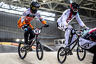 #42 (SCHIPPERS Jay) NED during practice at the 2019 UCI BMX Supercross World Cup in Manchester, Great Britain