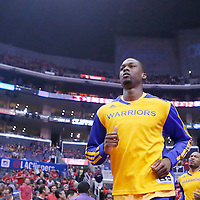 21 April 2014: Golden State Warriors forward Harrison Barnes (40)) is seen prior to the Los Angeles Clippers 138-98 victory over the Golden State Warriors, during Game Two of the Western Conference Quarterfinals of the NBA Playoffs, at the Staples Center, Los Angeles, California, USA.