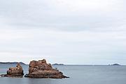 People stand on a shore in Roscoff, Bretagne, France.<br /> <br /> © Giorgio Perottino