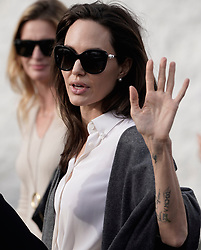 Angelina Jolie is seen greeting fans after a movie screening in Los Angeles. 06 Jan 2018 Pictured: Angelina Jolie. Photo credit: Lies Angeles / MEGA TheMegaAgency.com +1 888 505 6342