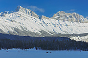 The Canadian Rocky Mountains along the Icefields Parkway , Banff National Park, Alberta, Canada