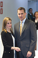 021314 Prince Felipe and Princess Letizia attend the Inauguration of the new headquarters of EFE