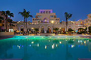 Jordan, Aqaba, Tala Bay Luxury Beach Resort. Night photography