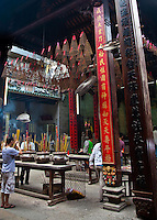 Large incense urns at Tian Hou tempe in Ho Chi Minh City.