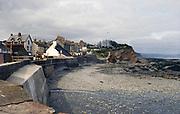 Harbour and coastline coastal settlement of Watchet, Somerset coast, England, UK 1970s