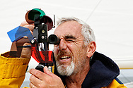 Happy (the sister ship of Mike Birch's famous Olympus) skippered by Loick Peyron preparing to take part in - La Route du Rhum - in La Trinité-sur-Mer, Brittany, France, on July 22, 2018 - Photo Christophe Launay / ProSportsImages / DPPI