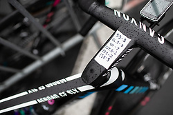 The key moments on a CANYON//SRAM Racing bike before the Liege-Bastogne-Liege Femmes - a 138.5 km road race, between Bastogne and Liege on April 28, 2019, in Wallonie, Belgium. (Photo by Balint Hamvas/Velofocus.com)