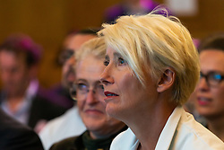 Dame Emma Thompson at the launch of the Children's Future Food Inquiry at Church House in Westminster. London, April 25 2019.