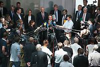 17 JUL 2013, BERLIN/GERMANY:<br /> Hans-Peter Friedrich, MdB, FDP, Bundesinnenminister, gibt ein Statemnt, nach einerSondersitzung Innenausschuss Deutscher Bundestag zum NSA Abhoerprogramm PRISM und die Reise des Innenministers in die USA in dieser Sache, Paul-Loebe-Haus<br /> IMAGE: 20130717-02-061<br /> KEYWORDS: Abhöraffäre, Affaere,Abhoerskandal, Abhörskandal, Mikrofon, microphone, Journalisten, Medien