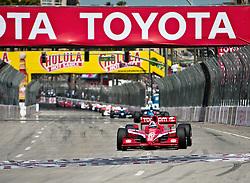 LONG BEACH, CA - APR 19: Indycar driver Dario Franchitti in the #10 Target Chip Ganassi Racing  during the 35th Toyota Grand Prix of Long Beach on Apr 19, 2009. Photo by Eduardo E. Silva