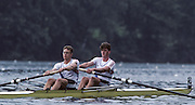 Lucerne, SWITZERLAND GER M2-, Right, Peter HOLTZENBEIN and Colin von ETTINGHAUSEN, 1992 FISA World Cup Regatta, Lucerne. Lake Rotsee.  [Mandatory Credit: Peter Spurrier: Intersport Images] 1992 Lucerne International Regatta and World Cup, Switzerland