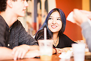 """SAN FRANCISCO, CA – SEPTEMBER 16, 2017: Incoming freshmen in the class of 2021 grab lunch at El Toro Taqueria in the Mission while between co-curriculars. Co-curricular programs are organized weekly in each global city as a compliment to the students' coursework, and are designed to facilitate active learning through the civic partnerships. Consistent with the """"flipped"""" classroom model, these experiential learning components are an embodiment of the Minerva ethos, where the city is the classroom. For incoming freshmen, San Francisco is the first of eight global cities to serve as a backdrop for their undergraduate education.<br /> <br /> Minerva is a unique 21st century university built on a global four-year education model. It is deliberately designed to enhance intellectual growth and prepare students for success in today's rapidly changing global context. Founded in 2014, the university targets the developing world's rising middle class who seek an elite American education. With a 2.8% acceptance rate among the founding class, Minerva is the most selective undergraduate program in U.S. history."""