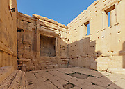 Interior of Cella or Inner Temple  of the Temple of Bel, Palmyra, Syria. Ancient city in the desert that fell into disuse after the 16th century.