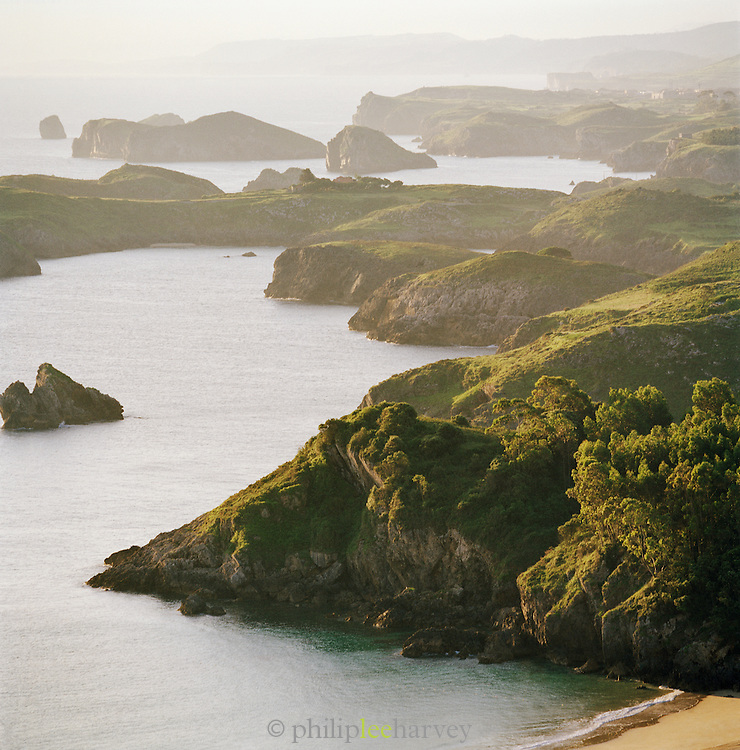 Cliffs and coastline of the Asturias, Spain