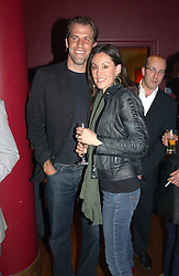 Tenns player GREG RUSEDSKI and his wife LUCY at a party to celebrate the publication of Paul McKenna's new book 'I Can Make You Thin' held at the Soho Hotel, 4 Richmond Mews, London W1 on 8th March 2005.<br /><br />NON EXCLUSIVE - WORLD RIGHTS