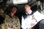 Feyenoord-selectie  krijgt maandag in Amersfoort een militaire training. Op uitnodiging van de Koninklijke Landmacht is de A-selectie een dag te gast op de Bernhardkazerne.<br /> <br /> Op de foto:  John Guidetti