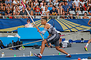 Emmanouil Karalis, Greece, Men's Pole Vault, during the Diamond League Meeting at Stade Charlety, Paris, France on 24 August 2019.