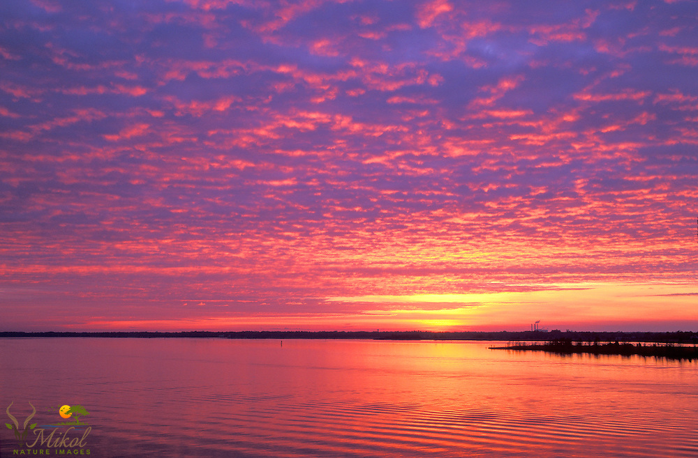 Sunrise over Winyah Bay with Paper Mill
