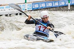 Klaudia Zwolinska (POL) competes in Semi-Finals during Day 3 of 2018 ECA Kayak - Canoe Slalom European Championships, on June 3rd, 2018 in Troja , Prague, Czech Republic. Photo by Grega Valancic / Sportida