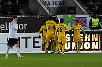Fotball Europa League<br /> Rosenborg - Metalist Kharkiv 25 oktober 2012<br /> Lerkendal Stadion, Trondheim<br /> <br /> <br /> Cleiton Xavier har scoret 1-2 for Metalist Kharkiv og jubler<br /> <br /> <br /> <br /> Foto : Arve Johnsen, Digitalsport