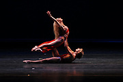 "9/14/2008 -- GASTON DE CARDENAS/EL NUEVO HERALD -- MIAMI --  Maurizio Nardi  and Jennifer De Palo Rivera from the Martha Graham Dance Company performs ""Conversation for Lovers"" at the XIII International Ballet Festival of Miami."