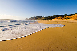 Montara Beach,.San Mateo Coast of California, south of San Francisco.  Photo copyright Lee Foster, 510-549-2202, lee@fostertravel.com, www.fostertravel.com. Photo 404-30850