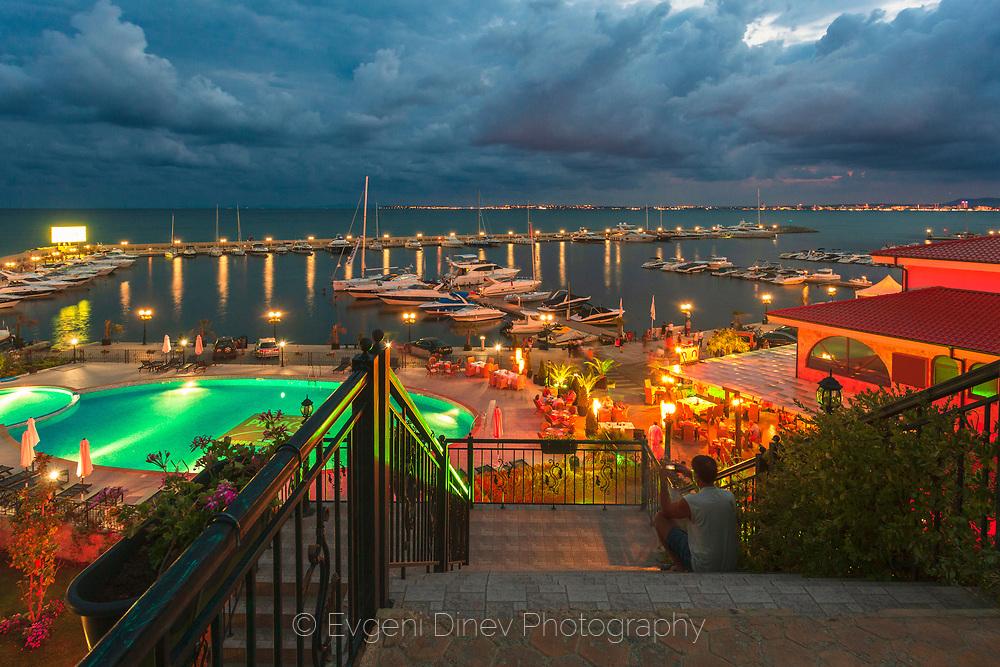 Saint Vlas resort by night