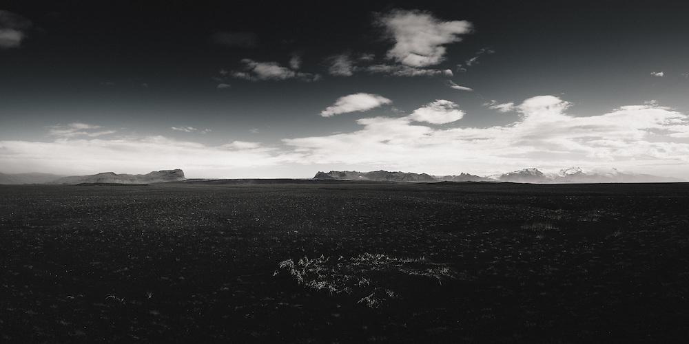 Vatnajokull ice cap, Skaftafell and Skeidararsandur black sand desert