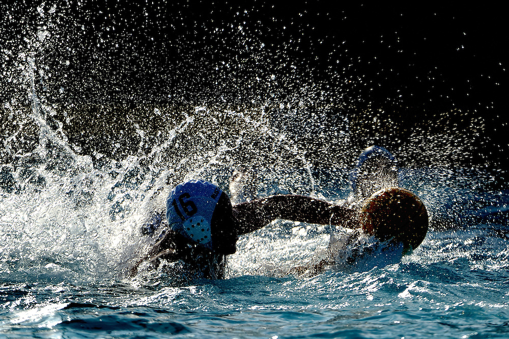 9/21/11 8:06:37 PM --- WATER POLO SPORTS SHOOTER ACADEMY 008 --- Orange Coast College men's water polo team vs Golden West. Photo by Joe Lorenzini, Sports Shooter Academy