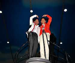 WMRT Executive Chairman, Patrick Lim, and Kim Moon Soo, Governor of Gyeonggi Province onboard a Nimbus 380. Photo:Chris Davies/WMRT