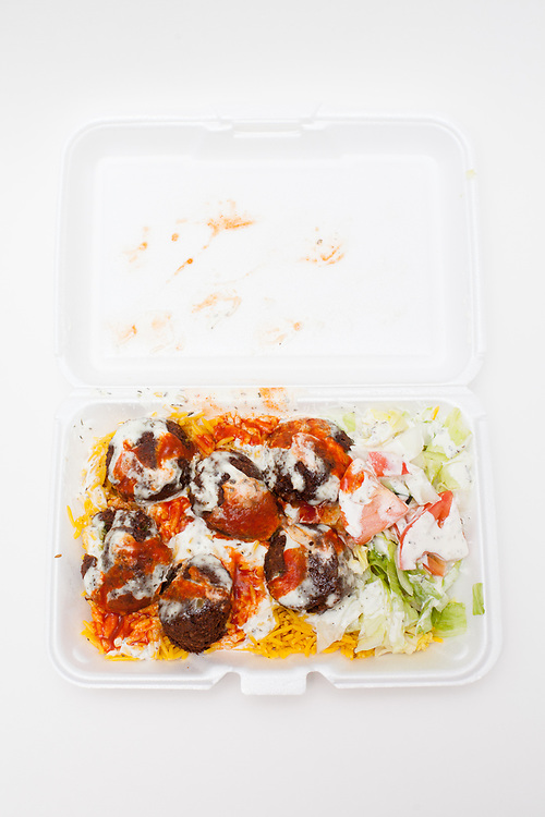 Falafel over rice from Philly Gyro ($6.00)