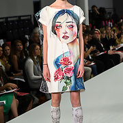 Designer Zang Wei showcases it lastest collection at the Graduate Fashion Week 2018, 4 June 4 2018 at Truman Brewery, London, UK.