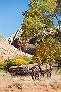 Abandoned wagon, Capitol Reef National Park, Utah, United States of America