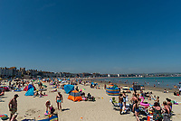 Weymouth beach thousands of sunseakes continuing to ignoring  social distancing rules as temperatures reach 28C photo by Mark Anton Smith