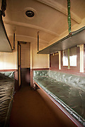 A passenger carriage at the railway museum in Nairobi, Kenya. The railway is rich with history, and integral in the development of the country after being colonised by the British in the 19th century