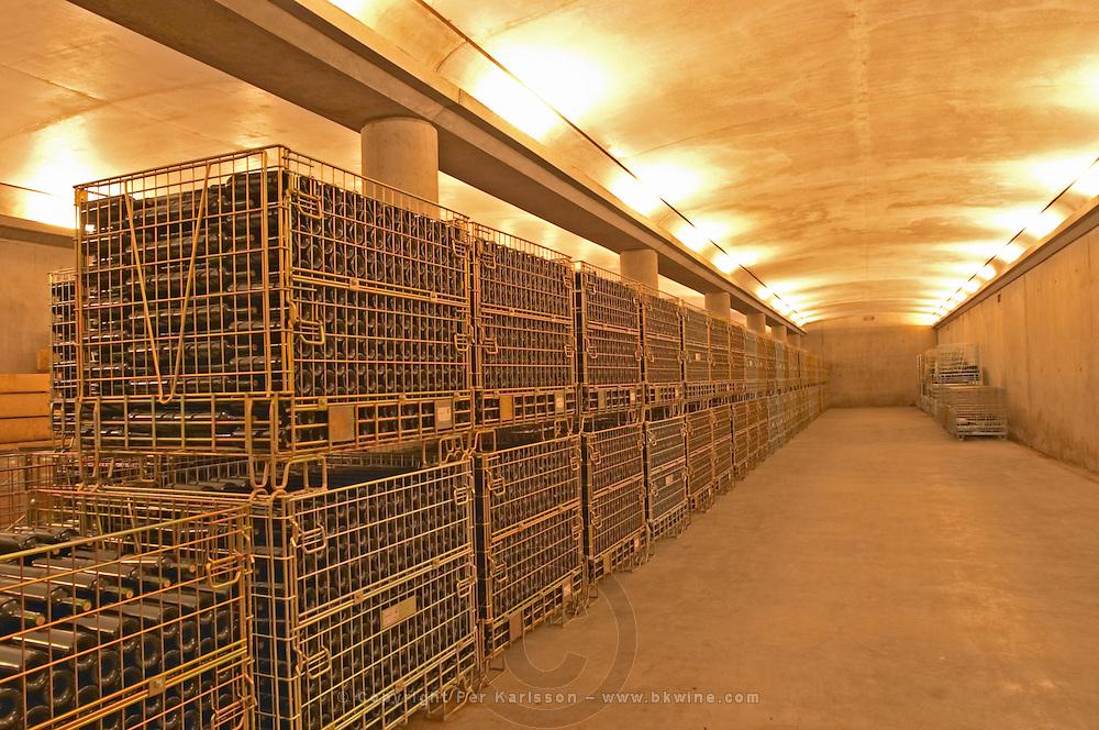 The bottle storing cellar - Chateau Grand Mayne, Saint Emilion, Bordeaux
